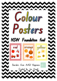 Colour Posters Charts NSW Foundation Font