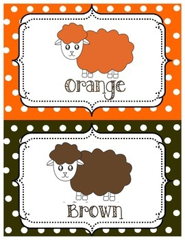 Colour Posters Cute Sheep