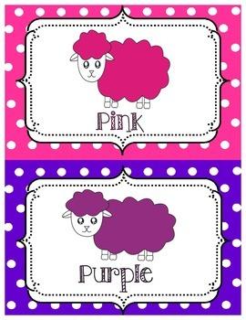 Colour Posters Cute Sheep