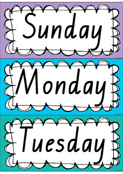 Rainbow Days & Months - Australian Holidays (QLD fonts)