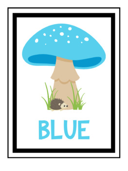 Colour Posters / Woodland/Mushroom Theme Posters to Teach Colours