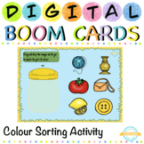 Colour Sorting Activity for Toddlers with Sound- Boom Card