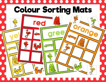 Colour Sorting Mats: Rainbow Animals