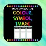Colour, Symbol, Image Thinking Routine