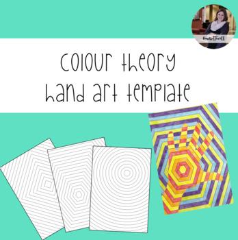 Colour Theory Hand Art Templates