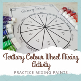 Colour Wheel Activity Sheet - Learn to Mix paint with tertiary colours