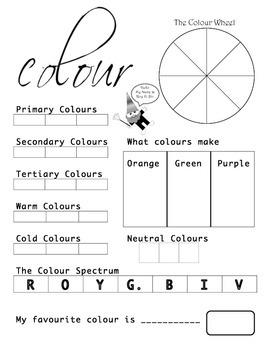 Colour Wheel Assessment Grade 3 & 4