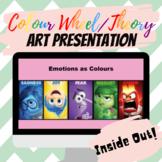 Colour Wheel Art PowerPoint (Inside Out Emotions as Colours Lesson)