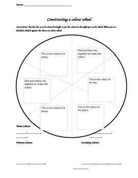 Colour Wheel quick assessment/intro task!