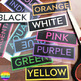 Colour Word Cards for Classroom Display