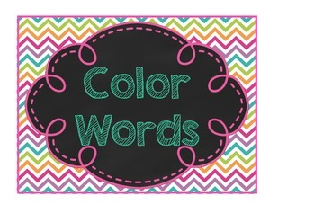 Colour Word Posters