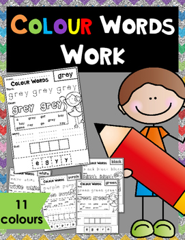 Colour Words Worksheets