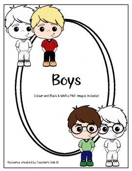 Colour and Black and White PNG Images - Boys