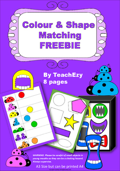 Colour and Shape Matching Freebie
