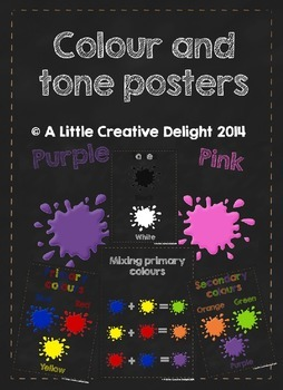 Colour and tone Posters