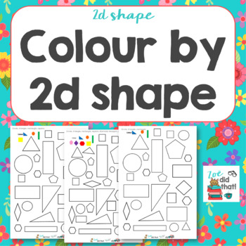 Colour by 2d shape