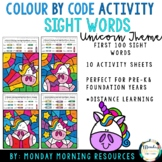 Colour by Code First 100 Sight Words - Distance Learning