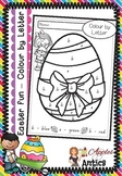 Colour by Letter Easter Fun - FREEBIE