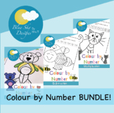 Colour by Number: Addition, Subtraction & Multiplication V