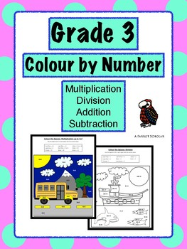 Colour by Number - Grade 3 - Math