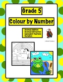 Colour by Number - Grade 5 Math - 4 sheets included
