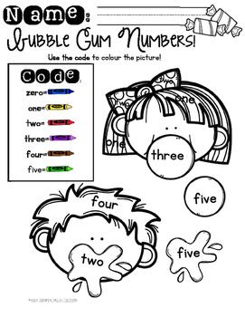 Bubble Gum Number Names!