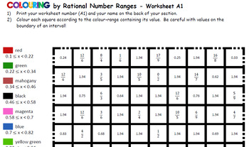Colour by Number & Range - Remembrance Day Poppy, Math Mosaic (5 Versions!)