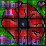 Colour by Number & Range - Remembrance Day Poppy, Math Mos