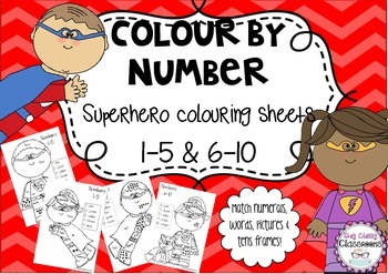 Color By Number Superhero Coloring Sheets Using Representations 1 10