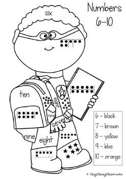 Color by Number ~ Superhero Coloring Sheets using number representations 1-10