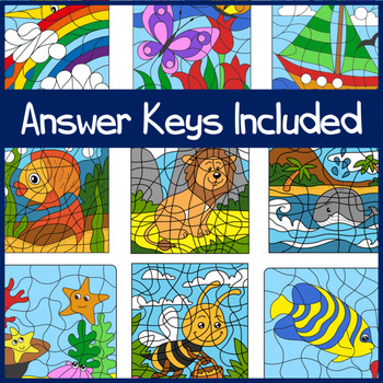 Colour by Numbers - Developing Number Sense for numbers 1-10 - 9 Puzzles