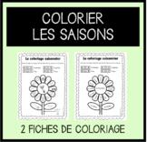 Colour by Season/Colorier les saisons (FRENCH)