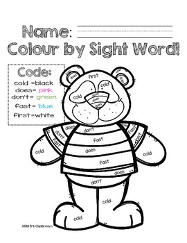 Colour by Sight Word: Second Grade Pets & More Edition