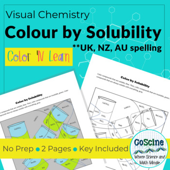 Colour by Solubility *UK, NZ, AU Spelling*