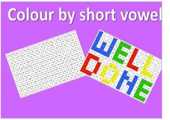 Colour by short vowel