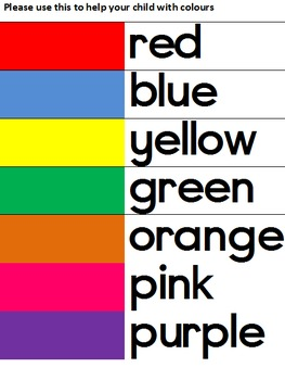 Colour chart for parents