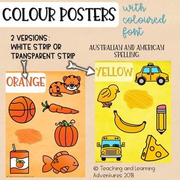 Colour/color posters- colour font