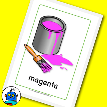 ESL Colors Flash Cards. Red, yellow, green to gold, silver, bronze, light blue..