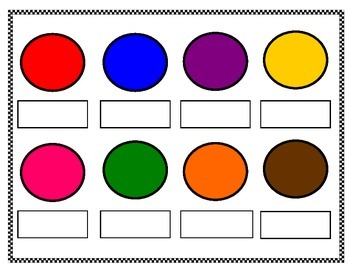 Colour name match board