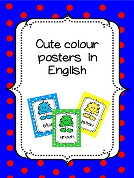 Colour posters in ENGLISH