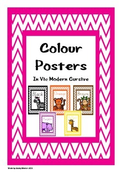Colour posters - vic cursive