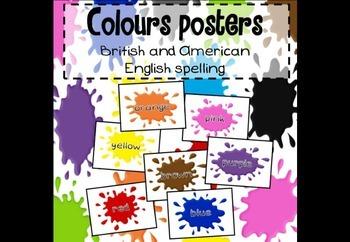 Colour splat / blob posters