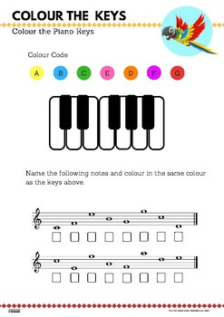 Colour the Piano Keys and Notes - FREE DOWNLOAD