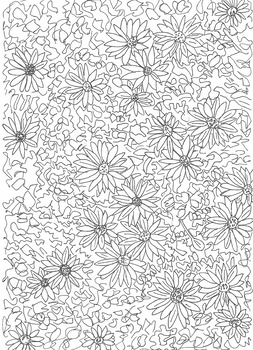 Colour them in: Flowers