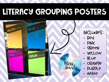 Colour themed Grouping Posters