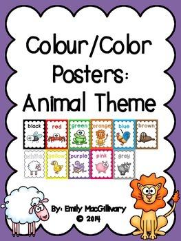 Colour/Color Posters: Animal Theme