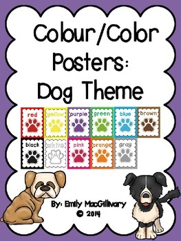 Colour/Color Posters: Dog Theme