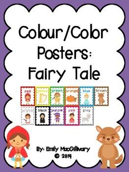 Colour/Color Posters: Fairy Tale Theme