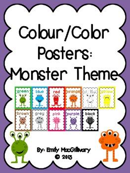 Colour/Color Posters: Monster Theme