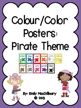Colour/Color Posters: Pirate Kids Theme